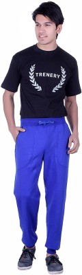 Broche Solid Men's Blue Track Pants