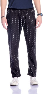 Cool Gene Printed Men's Black Track Pants