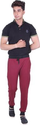 Gag Wear Solid Men's Maroon Track Pants