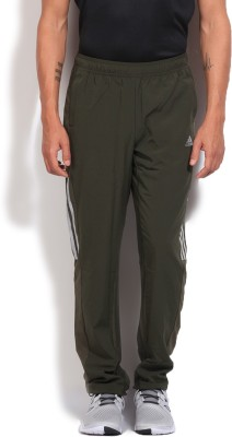 Adidas Solid Men's Green Track Pants