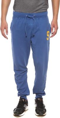 Pepe Solid Men's Blue Track Pants
