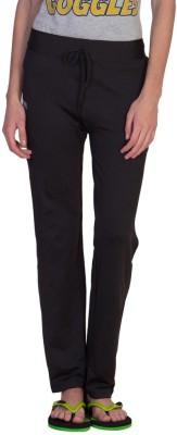 Hog Solid Women's Black Track Pants