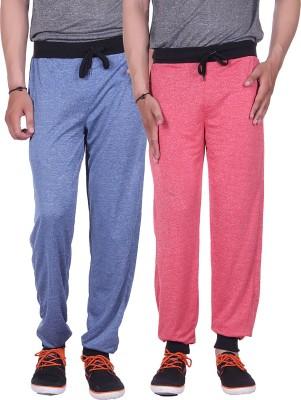 Gag Wear Solid Men's Red, Dark Blue Track Pants
