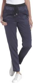 Vero Moda Solid Women's Blue Track Pants