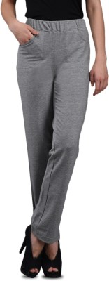 Finesse Solid Women's Grey Track Pants