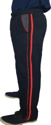 Fizzique Solid Men's Black Track Pants
