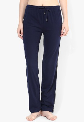 Red Rose Solid Women's Dark Blue Track Pants