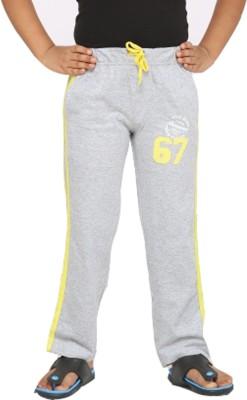 Greenwich Solid Boys Grey Track Pants