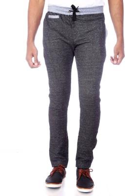 Shootr Self Design Men,s Black Track Pants