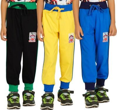 Shaun Solid Men's Black, Yellow, Light Blue Track Pants