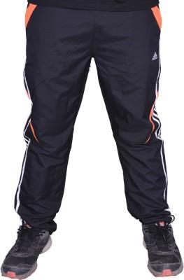 Front Look Club Solid Men's Black, Orange Track Pants