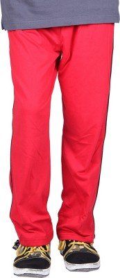 Vivid Bharti Sinker Cotton Rich Solid Boy's Red Track Pants