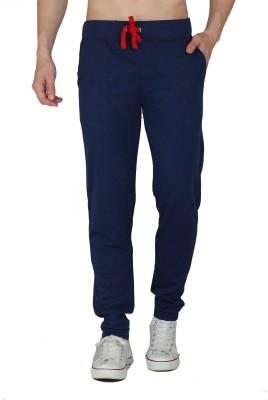 HASH TAGG Self Design Men's Dark Blue Track Pants