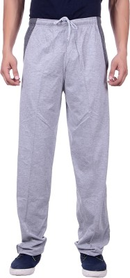 Sprig Striped, Solid Men's Grey Track Pants