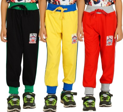 Shaun Solid Men's Red, Yellow, Black Track Pants