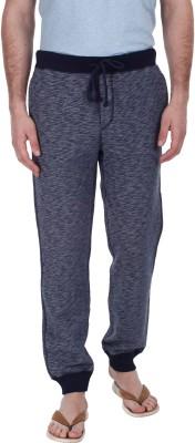 Zobello Solid Men's Dark Blue Track Pants