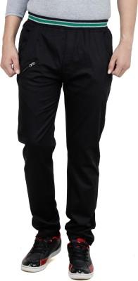 Leg-In Solid Men's Black Track Pants