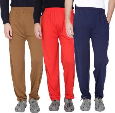 Fizzaro Solid Men's Brown, Red, Blue Track Pants