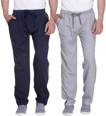 Grand Bear Striped Men's Dark Blue, Grey Track Pants
