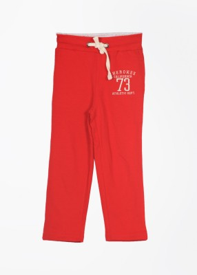 Cherokee Solid Boy's Red Track Pants