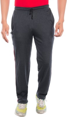Ckl Self Design Men's Black Track Pants