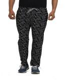 TT Printed Men's Black Track Pants