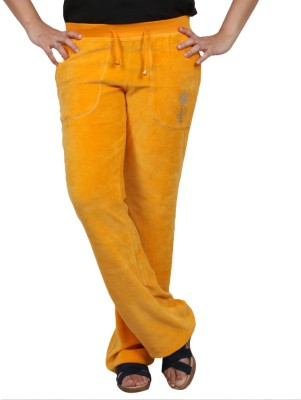 Pinellii Pamper Pant Marigold Solid Women's Yellow Track Pants