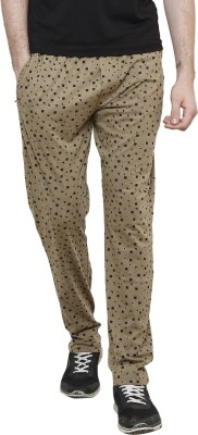 Riverstone Printed Men's Brown Track Pants