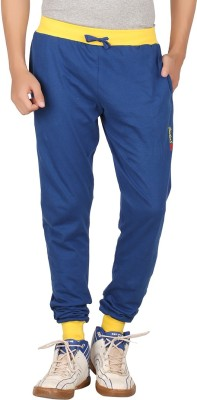 Checker S Bay Solid Men's Blue Track Pants