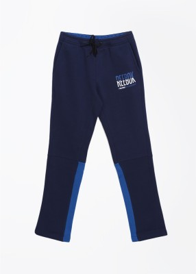 Reebok Solid Baby Boy's Blue Track Pants
