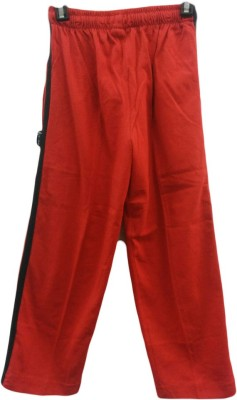 Angel Kids Solid Boy's Red Track Pants