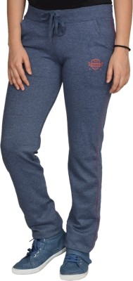 Fashion Club Solid Women's Blue Track Pants