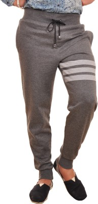 Frostini Solid Men's Grey Track Pants