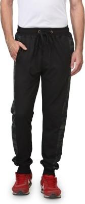 Wear Your Mind Printed Men's Black Track Pants