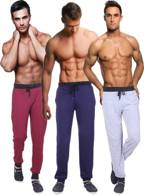 Billu Oye Solid Men's Grey, Maroon, Dark Blue Track Pants