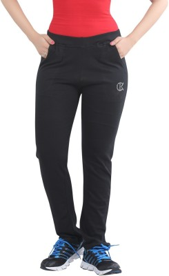 Bfly Solid Women's Black Track Pants