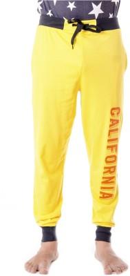 Shootr Solid Men,s Yellow Track Pants