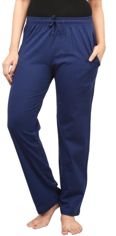 Nite Flite Solid Women's Blue Track Pants