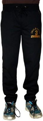 Gen Solid Men,s Black Track Pants