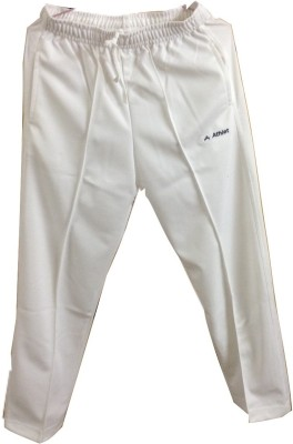 Athlet Pro Solid Men's White Track Pants