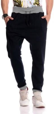 Brohood Solid Men,s Black Track Pants