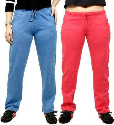 By The Way Solid Women's Blue, Pink Track Pants