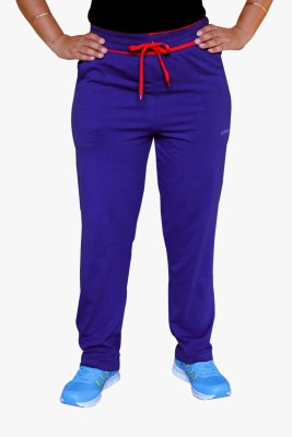 Pepe Rosso Solid Women's Blue Track Pants