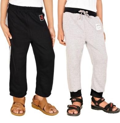 Gkidz Printed Boy,s Black, Grey Track Pants