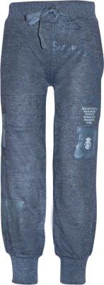 Gee & Bee Printed Boy's Grey Track Pants