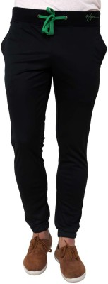 Wear Your Mind Chain Lower Solid Men's Black Track Pants