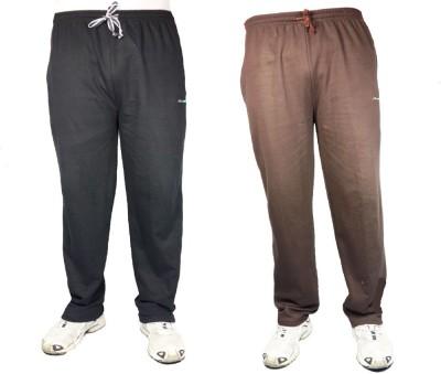 Bluedge Solid Men,s Black, Brown Track Pants