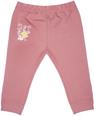 Wow Mom Solid Baby Boy,s Pink Track Pants