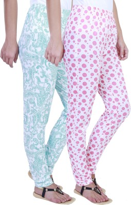 Eshelle Paisley, Polka Print Women's Green, White, Pink Track Pants