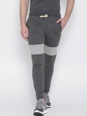 Hubberholme Solid Men's Grey Track Pants